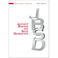 JOURNAL OF BUSINESS AND SOCIAL DEVELOPMENT Vol.4, No.1