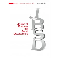 JOURNAL OF BUSINESS AND SOCIAL DEVELOPMENT Vol.4, No.2