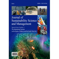 JOURNAL OF SUSTAINABILITY SCIENCE AND MANAGEMENT SPECIAL ISSUE NUMBER 1