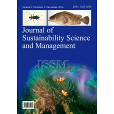 JOURNAL OF SUSTAINABILITY SCIENCE AND MANAGEMENT Vol.11, No.2